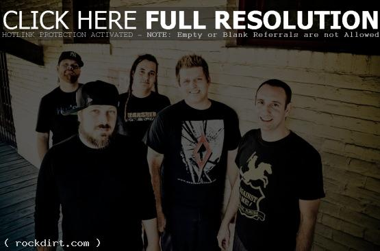 Less Than Jake, featuring band members Chris Demakes, Roger Manganelli, Vinnie Fiorello, Buddy Schaub and Peter