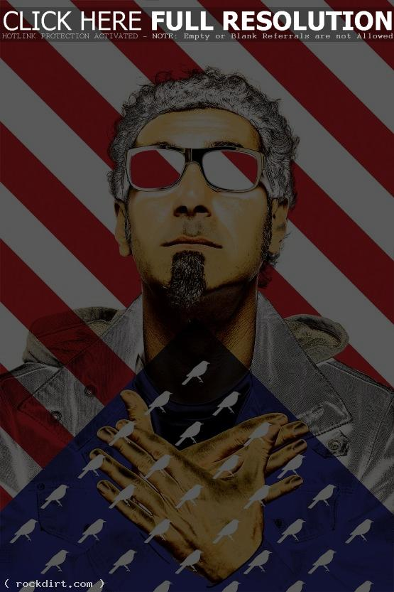 Serj Tankian and a modified U.S. flag